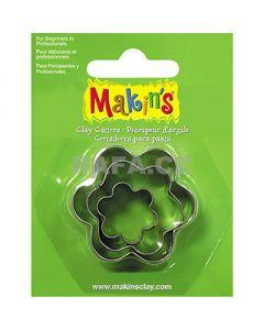 Метални формички за изрязване на моделин и тесто, 3 бр. - цветя