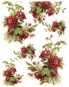 ITD RICE PAPER A4 - Ръчна оризова декупажна хартия с рози