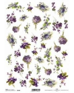 ITD RICE PAPER A4 - flowers and violets