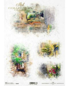 ITD RICE PAPER A4 - Romantic small streets