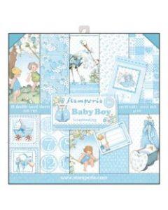 К-т дизайнерски скрапбукинг картони 30,5 x 30,5 см, 10 бр, 170 гр, Baby Boy (sbbl40)