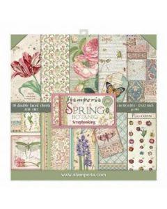 К-т дизайнерски скрапбукинг картони 30,5 x 30,5 см, 10 бр, 170 гр, Spring Botanic (sbbl50 N)