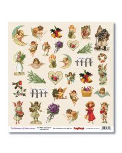 Дизайнерски картон 30,5x30,5 см, 180gr - The Romance of Xmas Xmas Cards 1