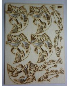 Комплект с елементи от бирен картон - Риби