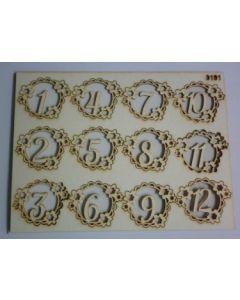 Комплект с елементи от бирен картон - 12 месеца-0191