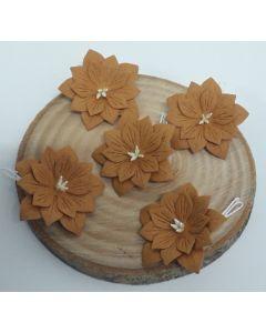 Ръчно изработени цветя 2 - Светло кафяво /TERRA DI SIENA/