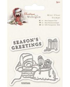 К-т дизайнерски прозрачни печати, 3 бр, 7 5х75 мм, Wellington Christmas - Chimney