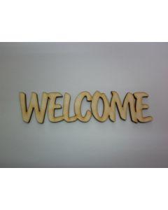 WELCOME- Дървен надпис