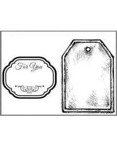 Гумен клинг печат (wtkcc32) 7х11 см, Labels
